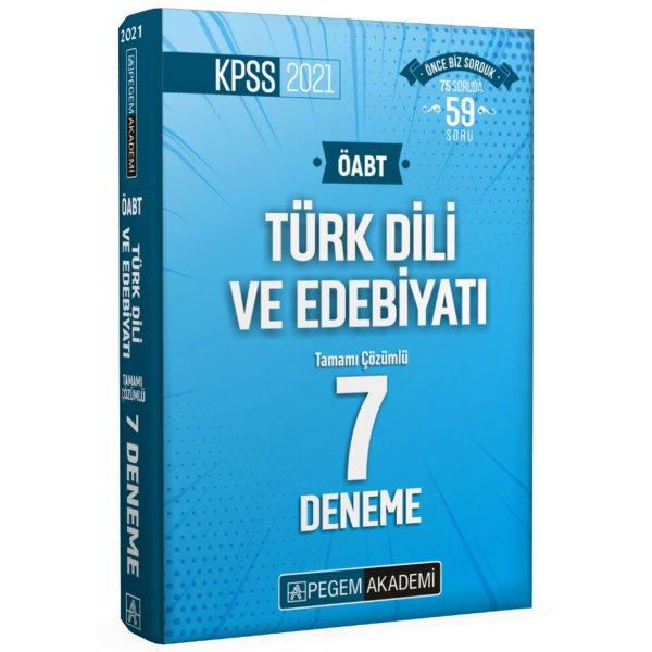 2021 ÖABT Türk Dili ve Edebiyatı Tamamı Çözümlü 7 Deneme Pegem Yayınları