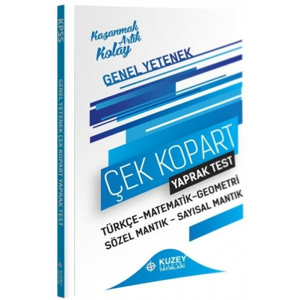 2021 KPSS Genel Yetenek Yaprak Test Çek Kopart Kuzey Akademi Yayınları