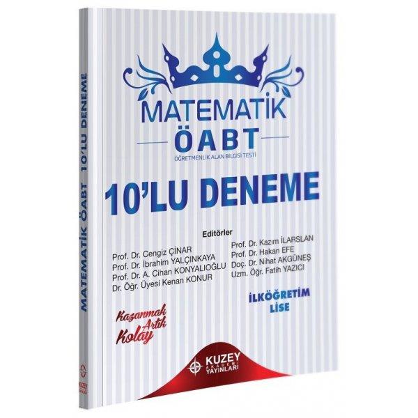 2021 ÖABT İlköğretim Lise Matematik 10 Deneme Çözümlü  Kuzey Akademi Yayınları