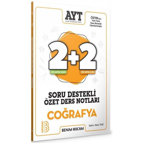 AYT Coğrafya 2+2 Soru Destekli Özet Ders Notları Benim Hocam Yayınları