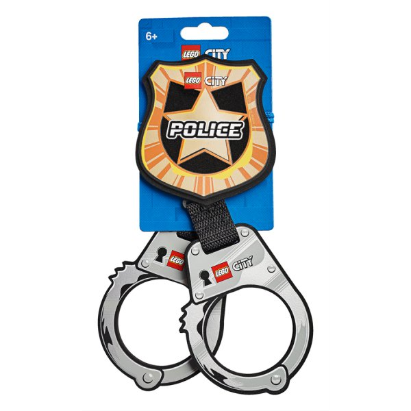 854018 Police Handcuffs & Badge