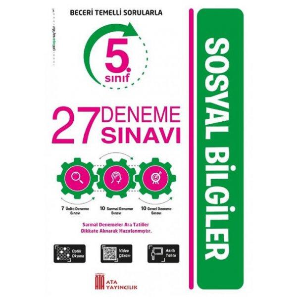 5. Sınıf Sosyal Bilgiler 27 Deneme Sınavı Ata Yayıncılık