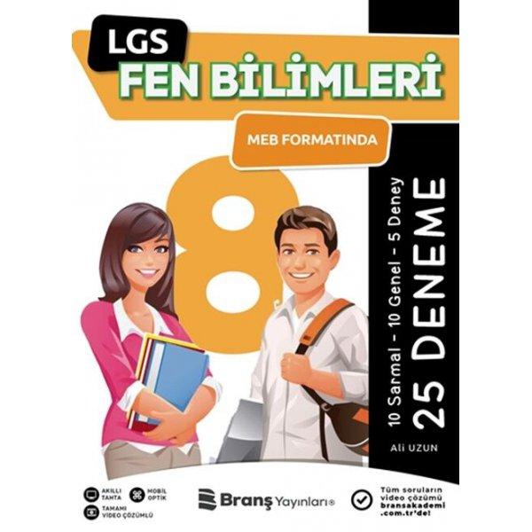 Branş Akademi 8. Sınıf LGS Fen Bilimleri Meb Formatında 25 Deneme