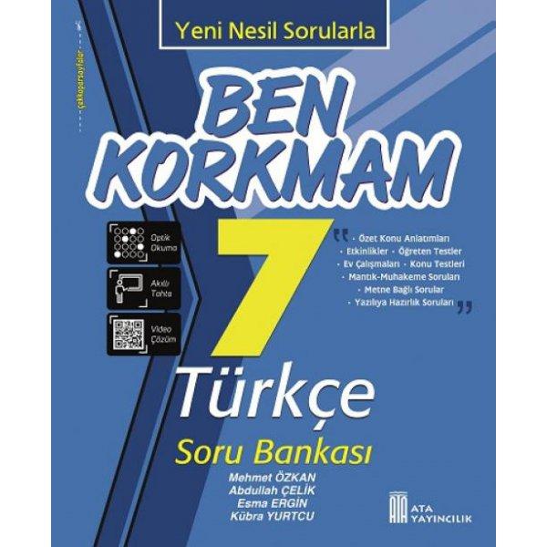 7. Sınıf Ben Korkmam Türkçe Soru Bankası Ata Yayıncılık