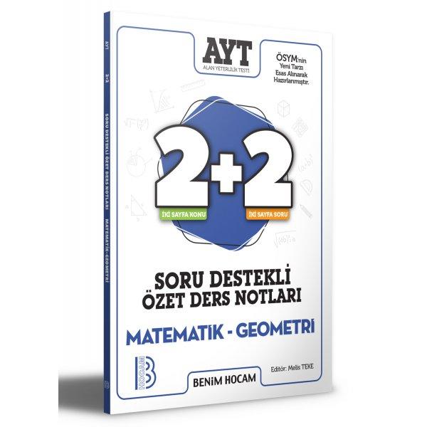 2021 AYT Matematik - Geometri 2+2 Soru Destekli Özet Ders Notları Benim Hocam Yayınları