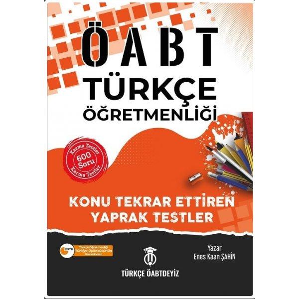 Türkçe ÖABTDEYİZ 2021 ÖABT Türkçe Öğretmenliği Yaprak Testler - Enes Kaan Şahin Türkçe ÖABTDEYİZ
