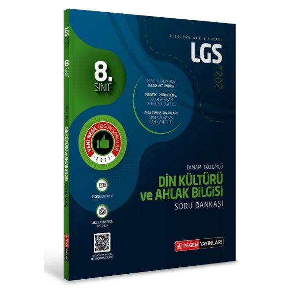 LGS Din Kültürü ve Ahlak Bilgisi Tamamı Çözümlü Soru Bankası Pegem Yayınları