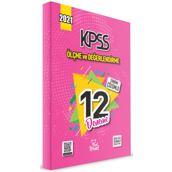 2021 KPSS Eğitim Bilimleri Ölçme ve Değerlendirme 12 Deneme Çözümlü Yeni Trend Beyaz Kalem Yayınları