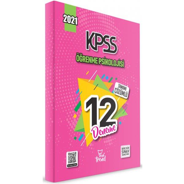 2021 KPSS Eğitim Bilimleri Öğrenme Psikolojisi 12 Deneme Çözümlü Yeni Trend Beyaz Kalem Yayınları