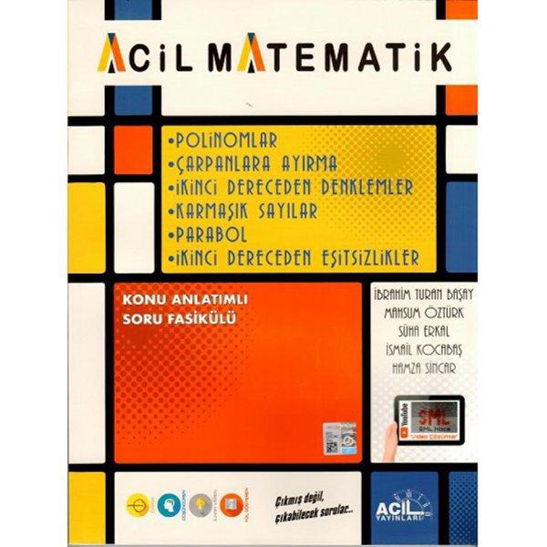 Acil Matematik Polinomlar Çarpanlara Ayırma 2. Dereceden Denklemler Karmaşık Sayılar Acil Yayınları
