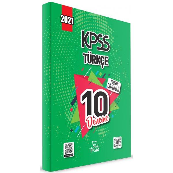 2021 KPSS Türkçe 10 Deneme Çözümlü Yeni Trend Beyaz Kalem Yayınları