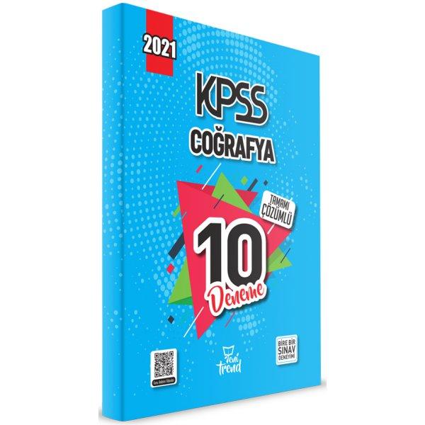 2021 KPSS Coğrafya 10 Deneme Çözümlü Yeni Trend Beyaz Kalem Yayınları