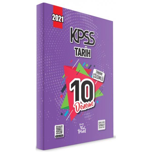 2021 KPSS Tarih 10 Deneme Çözümlü Yeni Trend Beyaz Kalem Yayınları