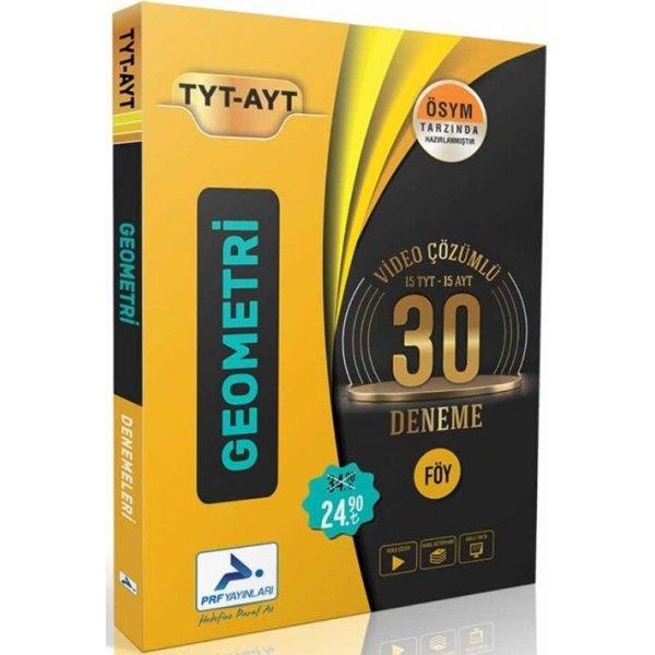 TYT AYT Geometri Video Çözümlü 30 Deneme Paraf Yayınları