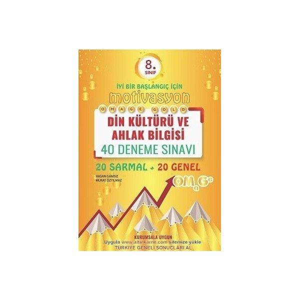 Omage Yayınları 8. Sınıf Din Kültürü Ve Ahlak Bilgisi Gold 40 Deneme
