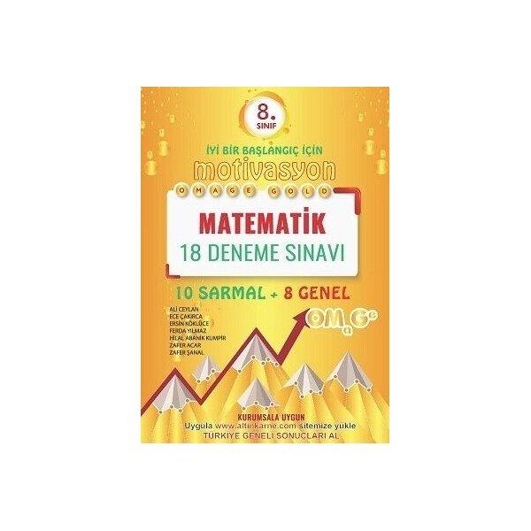 Omage Yayınları 8. Sınıf Matematik Gold 18 Deneme