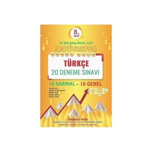 Omage Yayınları 8. Sınıf Türkçe Gold 20 Deneme