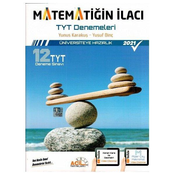 Acil Yayınları TYT Matematiğin İlacı Denemeleri 12li Deneme