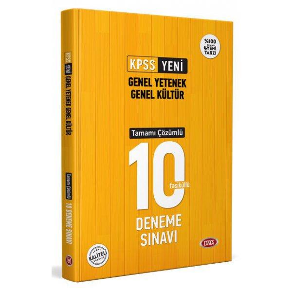 2021 KPSS Genel Yetenek Genel Kültür Tamamı Çözümlü 10 Deneme Sınavı Data Yayınları