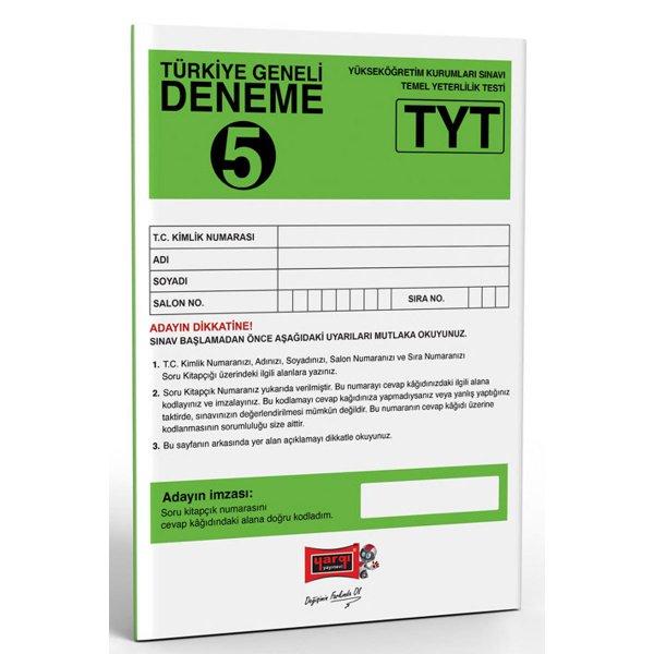 Yargı Yayınları TYT Türkiye Geneli Deneme 5