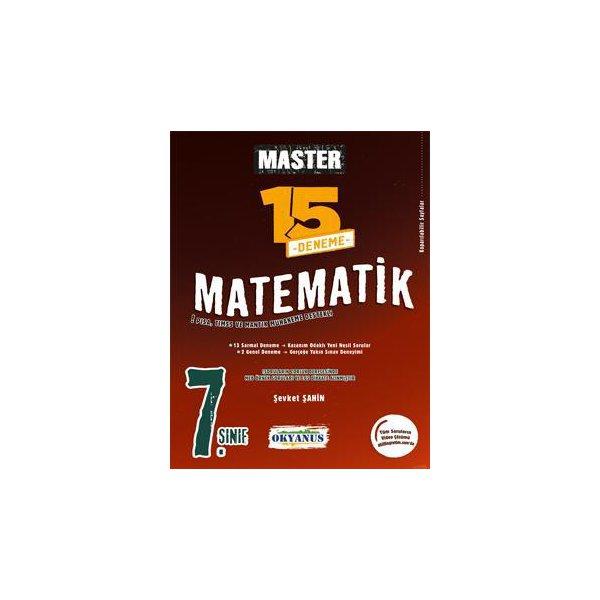 7. Sınıf Matematik Master 15 Matematik Deneme Okyanus Yayınları