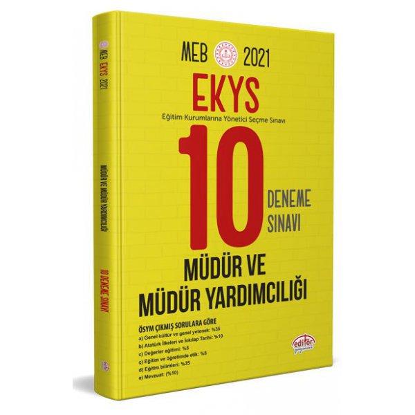 2021 MEB EKYS Müdür ve Müdür Yardımcılığı 10 Deneme Sınavı Editör Yayınları