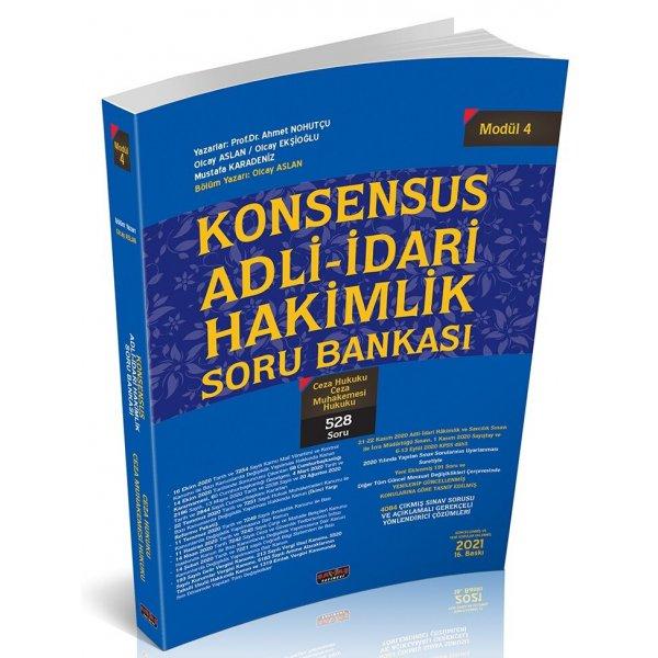 KONSENSUS Adli İdari Hakimlik Ceza Hukuku CMK Soru Bankası Modül 4 Savaş Yayınları