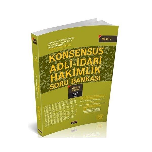 KONSENSUS Adli İdari Hakimlik Medeni Hukuk Soru Bankası Modül 7 Savaş Yayınları