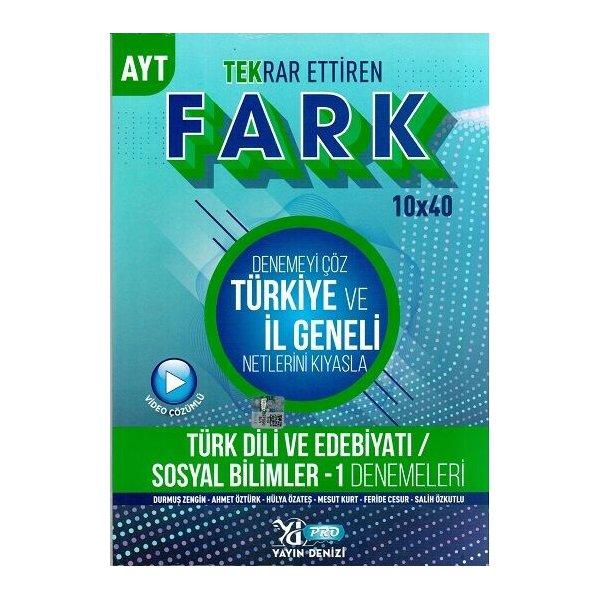 AYT Türk Dili ve Edebiyatı Sosyal Bilimler 1 Fark 10 x 40 Tekrar Ettiren Denemeleri