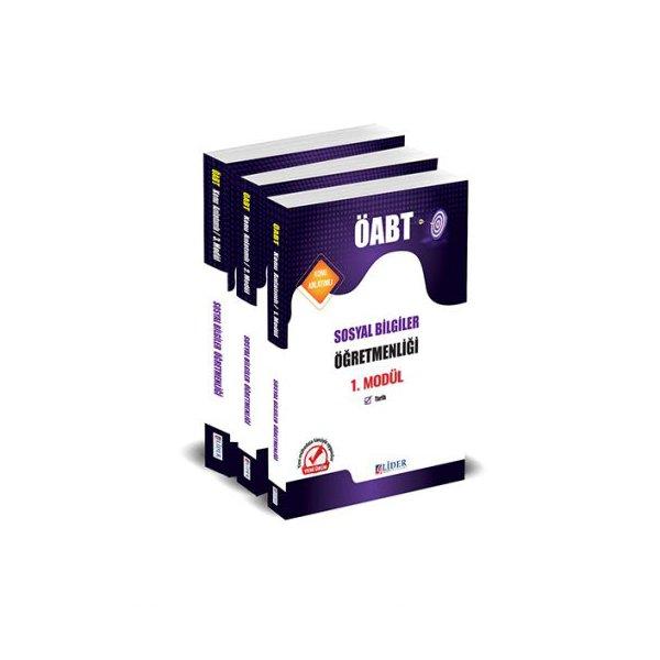 2021 ÖABT Sosyal Bilgiler Öğretmenliği 3 lü Modül Konu Anlatımı Lider Yayınları