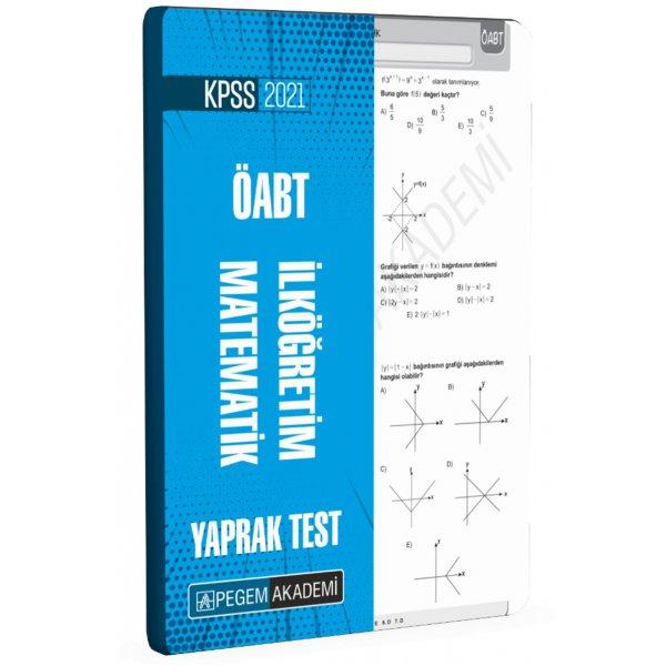 2021 ÖABT İlköğretim Matematik Yaprak Test Pegem Yayınları