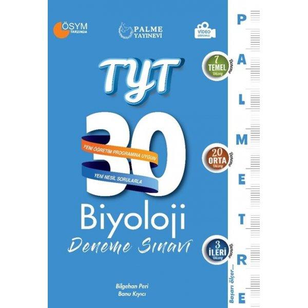 Palme Yayınları TYT Biyoloji Palmetre Serisi 30 Deneme Video Çözümlü