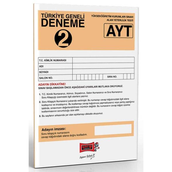 Yargı Yayınları AYT Türkiye Geneli Deneme 2