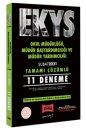 EKYS Okul Müdürlüğü, Müdür Başyardımcılığı ve Müdür Yardımcılığı Tamamı Çözümlü 11 Deneme Şubat 2021 Yargı Yayınları