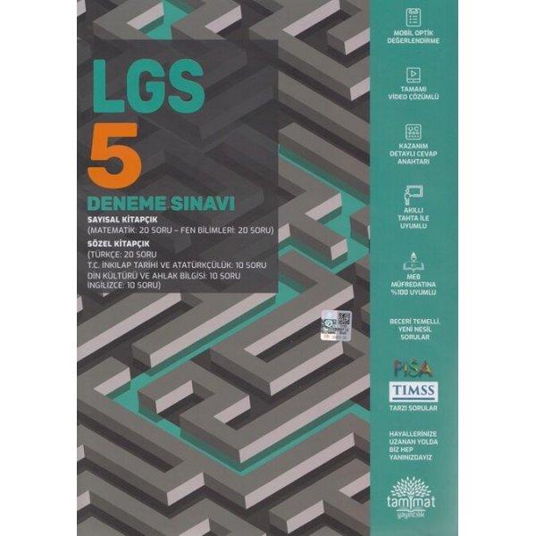 Tammat Yayıncılık 8. Sınıf LGS 5 Deneme