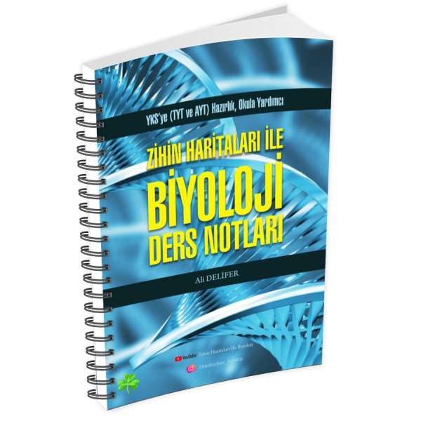 Ali Delifer Zihin Haritaları ile Biyoloji Ders Notları YKS'ye (TYT ve AYT) Hazırlık Okula Yardımcı