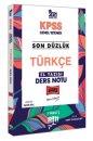 2021 KPSS Son Düzlük Türkçe El Yazısı Ders Notu Yargı Yayınları