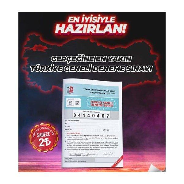 3D Yayınları TYT Türkiye Geneli Deneme Sınavı