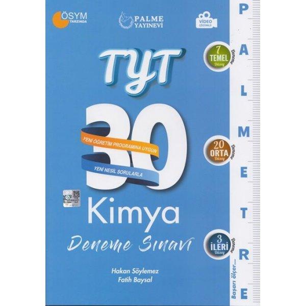 Palme Yayınları TYT Kimya Palmetre Serisi 30 Deneme Video Çözümlü
