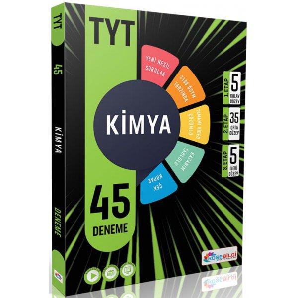 Tyt Kimya 45 Deneme Köşebilgi Yayınları