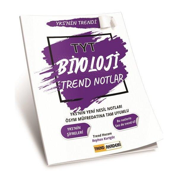 2021 TYT Biyoloji Trend Notlar Trend Akademi Yayınları