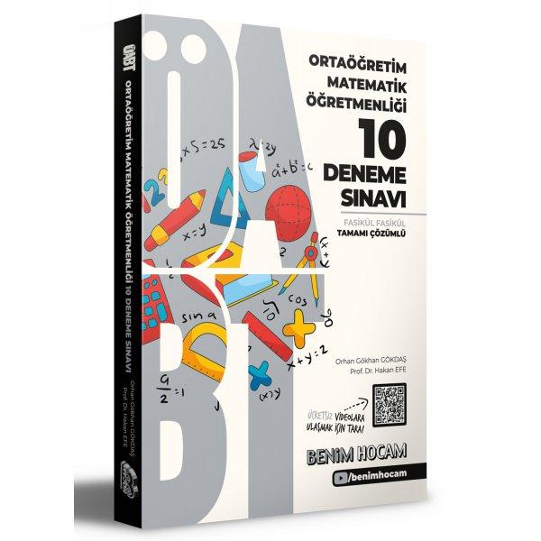 2021 ÖABT Ortaöğretim Matematik Öğretmenliği Tamamı Çözümlü 10 Fasikül Deneme Sınavı Benim Hocam Yayınları