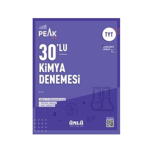 Ünlü Yayıncılık TYT Kimya Best Peak 30 lu Denemesi