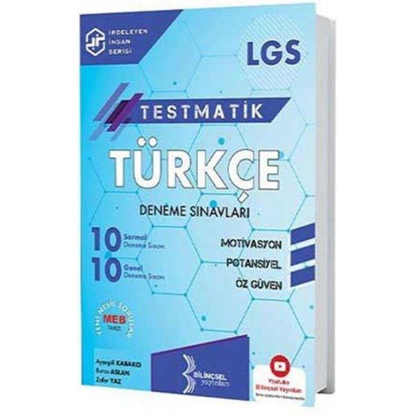 Bilinçsel Yayınları 2021 8. Sınıf LGS Türkçe Testmatik Deneme Sınavları