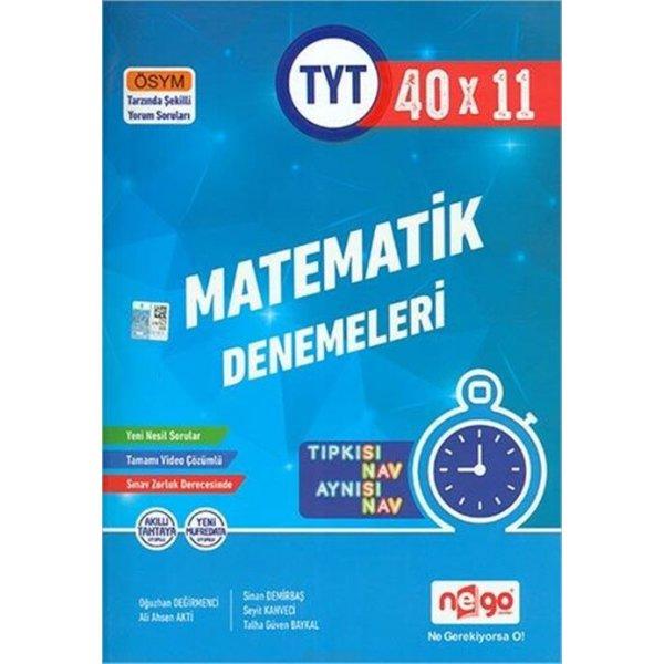 Nego Yayınları TYT Matematik Tamamı Video Çözümlü 40x11 Branş Denemeleri
