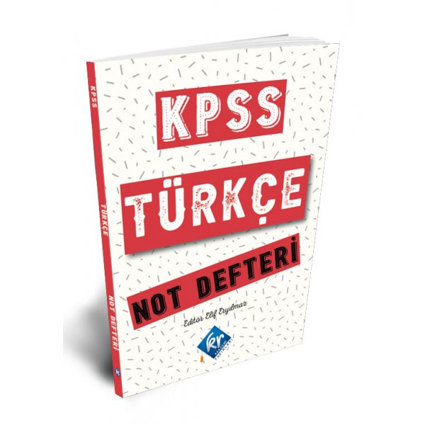2021 KPSS Türkçe Not Defteri KR Akademi