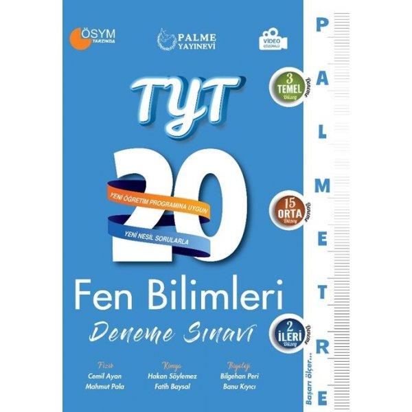 Palme Yayınları TYT Fen Bilimleri Palmetre Serisi 20 Deneme Video Çözümlü