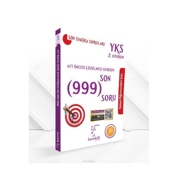 AYT Sözel Öncesi Çözülmesi Gereken Son 999 Soru Karekök Yayınları