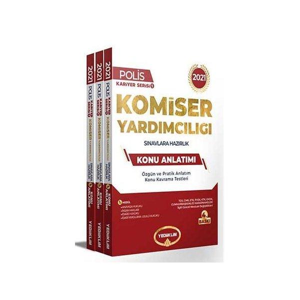 2021 Komiser Yardımcılığı Sınavlarına Hazırlık Konu Anlatımlı Modüler Set Yediiklim Yayınları
