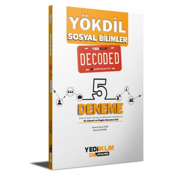 YÖKDİL Sosyal Bilimler Decoded 5 Deneme Yediiklim Yayınları